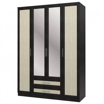 Юлианна СБ-074-01 Шкаф 4-х дверный с зеркалами