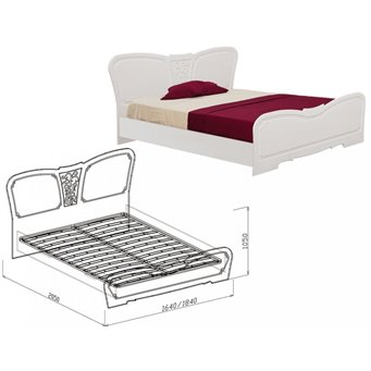 Кровать с основанием №1 Тиффани 1600 мм