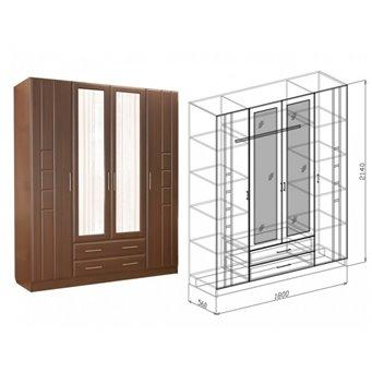 Шкаф 4х-створчатый Палермо (Союз-Мебель)