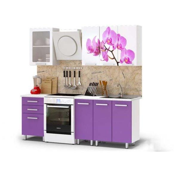 Кухня 1,6м - Орхидея