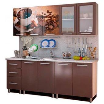 Кухня 2,0м Люкс - Шоколад