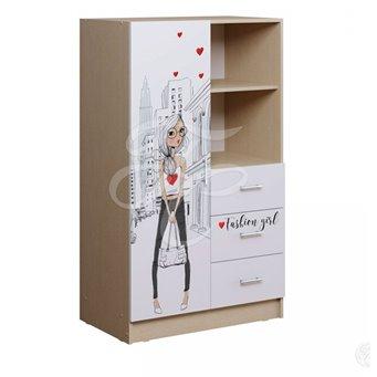 Вега NEW Girl Шкаф комбинированный
