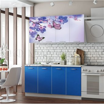 Кухня Фортуна 1,6м Бабочки