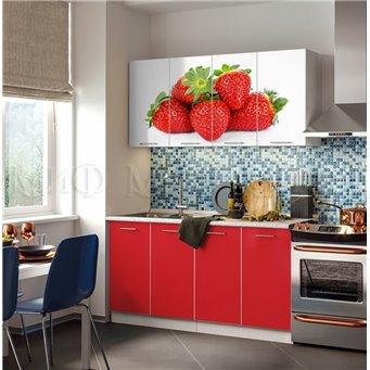 Кухня Фортуна 1,6м Клубника