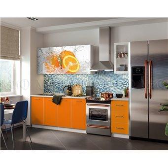Кухня Фортуна 2,0м Апельсин