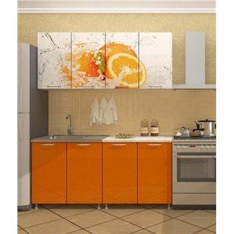 Кухня фотопечать Апельсин 1,6м