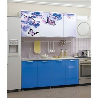 Кухня фотопечать Бабочки 1,6м