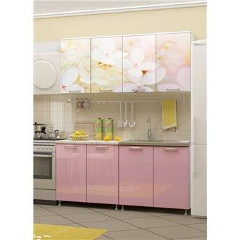 Кухня фотопечать Вишневый цвет 1,6м