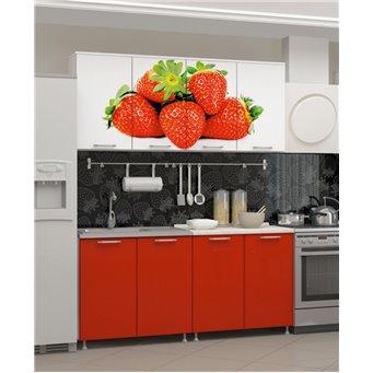 Кухня фотопечать Клубника 1,6м