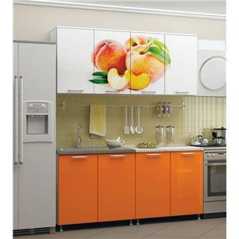 Кухня фотопечать Персик 1,6м