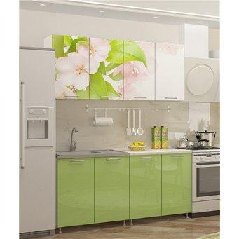 Кухня фотопечать Яблоневый цвет 1,6м
