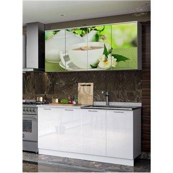 Кухня фотопечать Зеленый чай 1,6м