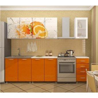 Кухня фотопечать Апельсин 2,0м