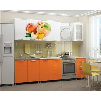 Кухня фотопечать Персик 2,0м