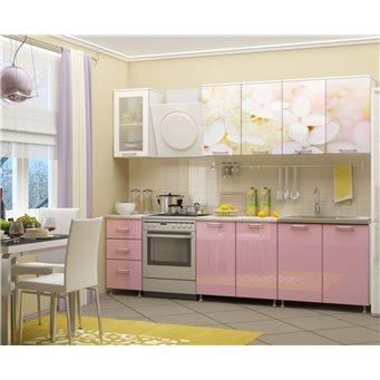 Кухня фотопечать Вишневый цвет 2,0м