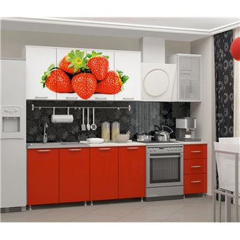 Кухня фотопечать Клубника 2,0м