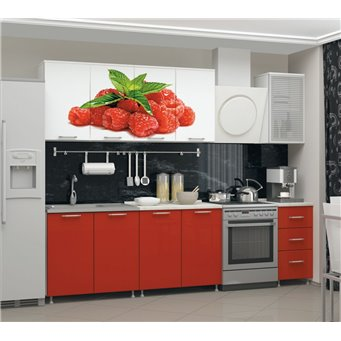 Кухня фотопечать Малина 2,0м