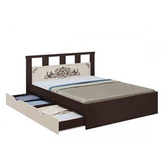 Жасмин Кровать 1,6м с ящиками
