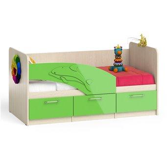 Кровать детская с ящиками Дельфин 1,6