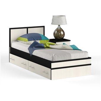 Кровать с ящиками 900 с тумбой Сакура