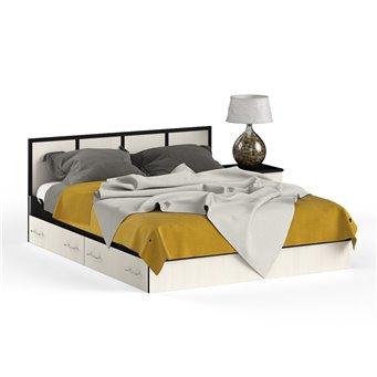Кровать с ящиками 1600 с тумбой Сакура