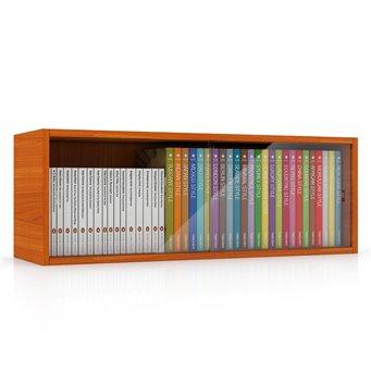Полка книжная со стеклом С-МД-КН01 вишня
