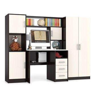 Компьютерный стол с пеналом и шкафом МД-СК-9 дуб/венге