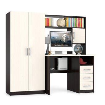 Стол компьютерный со шкафом СК-9 дуб/венге