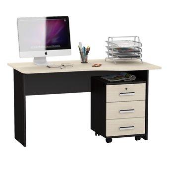 Письменный стол МД 1.04Т с подкатной тумбой венге/дуб