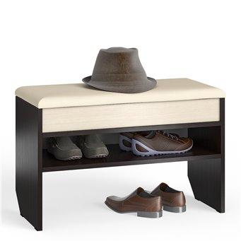 Тумба для обуви с нишей 80 см С-МД-ТО-10 венге/дуб