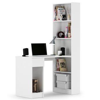 Компьютерный стол со шкафом комбинированным Лайт 10.01 белый гладкий