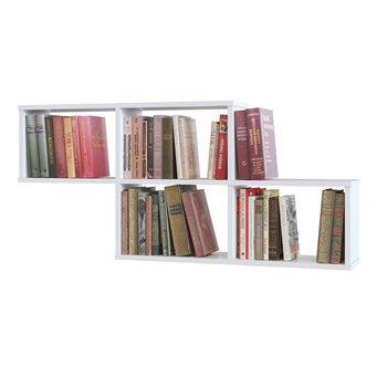 Полка для книг СПК-3 белый