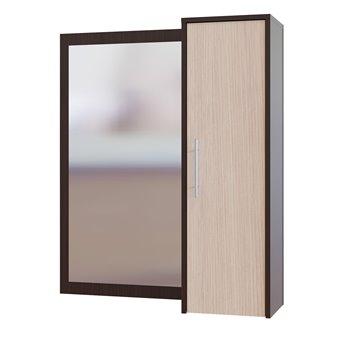 Прихожая Сокол ПЗ-4 зеркало cо шкафчиком дуб венге/белёный дуб