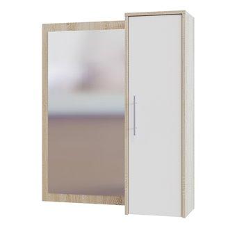 Прихожая Сокол ПЗ-4 зеркало cо шкафчиком дуб сонома/белый