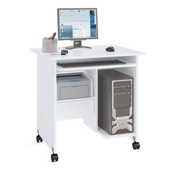 Стол компьютерный на поворотных колёсах Ристер-1 КСТ-10-1 белый