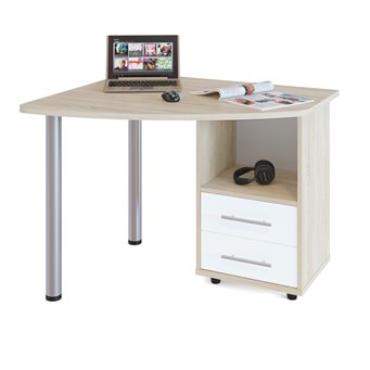 Стол компьютерный Сокол КСТ-102 дуб сонома/белый