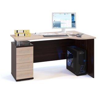 Угловой компьютерный стол КСТ-104 дуб венге/белёный дуб