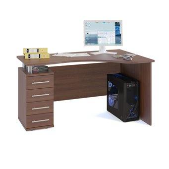 Угловой компьютерный стол КСТ-104 испанский орех