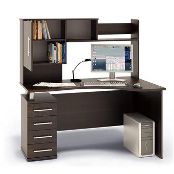Угловой стол с надстройкой КСТ-104+КН-14 дуб венге