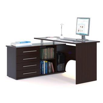 Угловой стол компьютерный с тумбой КСТ-109 венге