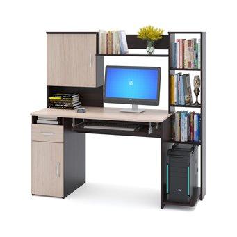 Компьютерный стол КСТ-11 дуб венге/беленый дуб