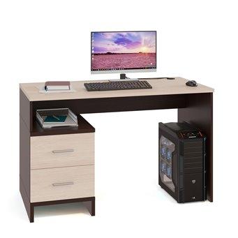 Письменный стол со встроенной тумбой Брук-1 венге/беленый дуб