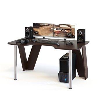Стол компьютерный игровой с металлическими опорами КСТ-116 венге