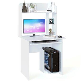 Стол компьютерный КСТ-21.1+КН-01 белый