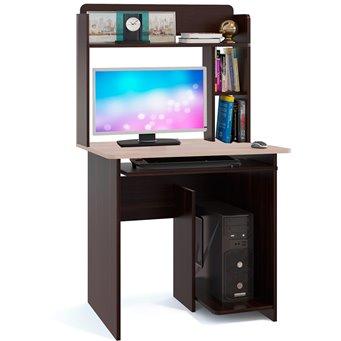 Стол компьютерный КСТ-21.1+КН-01 венге/белёный дуб
