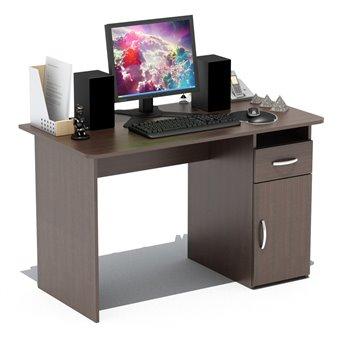 Стол компьютерный с тумбой СПМ-03 дуб венге