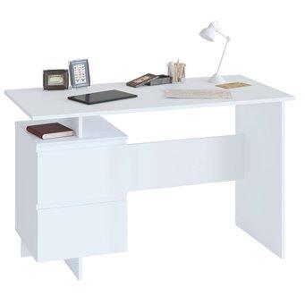 Стол компьютерный с тумбой Сокол СПМ-19 белый