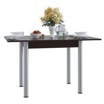 Стол обеденный на металлических опорах СО-1м раскладной венге