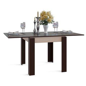 Обеденный стол Сокол СО-2 раскладной белёный дуб/венге