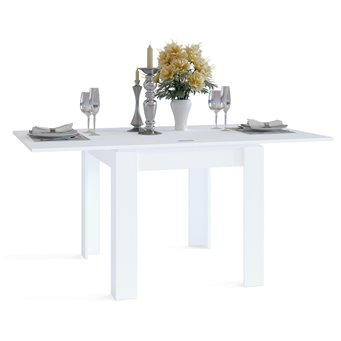 Обеденный стол Сокол СО-2 раскладной белый